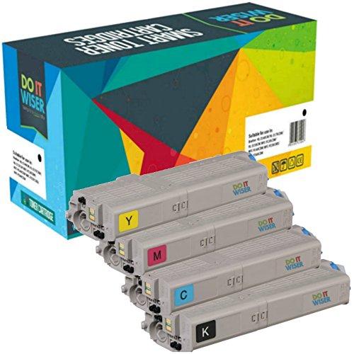 Cartuccia toner Do it wiser compatibile in sostituzione di Oki C532dn MC563 MC563dn C532 MC573dn C542 MC573 C542dn (Confezione da 4)