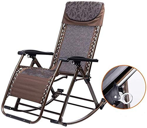 N/Z Home Equipment Recliner Schaukel-Recliner Relaxing Armchair Verstellbare Fußstütze und Rückenlehne Ferroalloy Tube Rack Keine Installation für Beach Garden Etc erforderlich (Farbe: B)