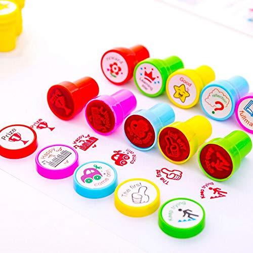Stempel Kinder,10 Stück Kinder Briefmarken Lehrer-Stempel für Schulnoten Hausaufgaben-Auszeichnungspapiere Klassenzimmerpreise