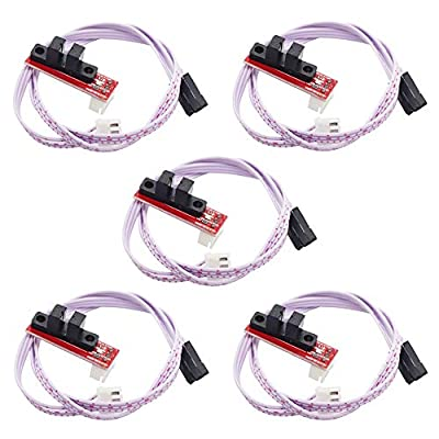 CNC 3D Printer Mechanical Optical Limit Switch Endstop with Cable for Ramps 1.4 Makerbot Prusa Mendel RepRap (Pack of 5)