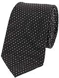 【BOYCOTT】ボイコット ドット刺繍 シルクネクタイ 黒