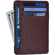Clifton Heritage Leder Geldbörse für Damen & Herren - RFID Blocking Slim Design Fronttasche Minimalistische Geldbörse