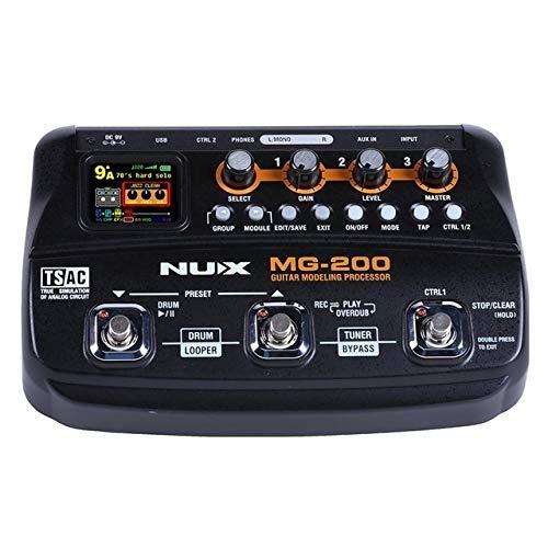 エレキギター エフェクター 多機能デジタルギター 組成音声 チューナ ドラムマシン 集積効果 AT5294