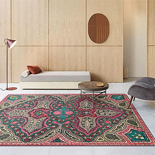 Antideslizante alfombras Infantiles Baratas Estampado Retro clásico Amarillo Rosa Rojo Verde Alfombra Outlet 45X75cm