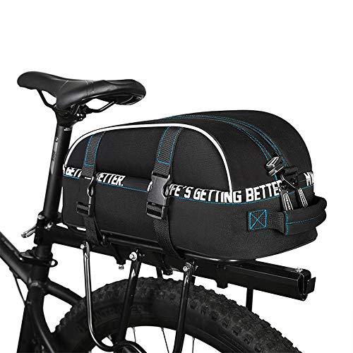 Bolsas para sillines Bolsa de equipaje de maletero, bolsa de equipaje de maletero, bolsa de equipaje, bolsa de equipaje, bolsa de bicicleta, bicicleta de viaje de múltiples funciones, cierre rápido, d