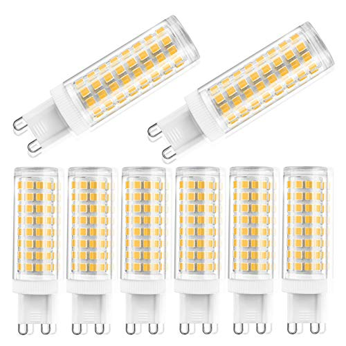 ZJYX Bombilla LED G9 10W, 100 Leds Equivalente 100W Lampara Halógena, 1000LM Suficiente Brillante, Sin Estroboscópico, 360° de Haz Omnidirectional, Iluminación Hogar(8Pcs),Natural White