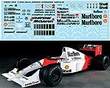 1/20 MCLAREN MP4/6 for FUJIMI Ayrton Senna/Berger Decals TB Decal TBD182