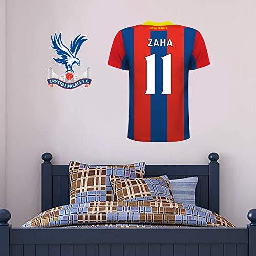 Beautiful Game Wandtattoo / Wandaufkleber, Motiv Crystal Palace FC Fußballclub Trikot, personalisierbar, 90 cm hoch