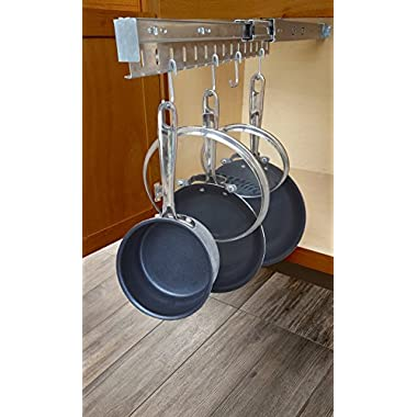 JA Marketing 24 Pot, Pan & Lid Holder Cookware Organizer