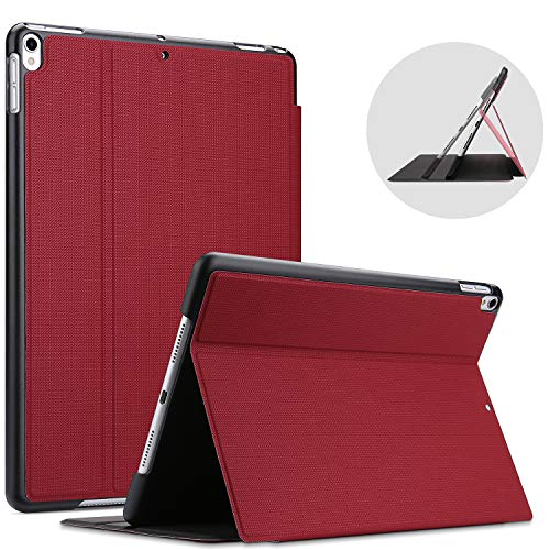 ProCase for iPad Air (3rd Gen) 10.5 Inch 2019 / iPad Pro 10.5' Case, Shockproof Lightweight Slim Stand Protective Case Folio Cover -Red