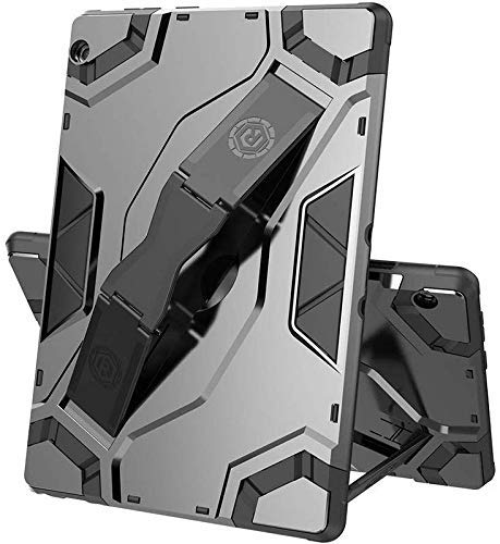 Starz Rugged Armor Shockproof Kickstand Back Cover case for Lenovo Tab M10 with Hand Strap Escort Handle Cover