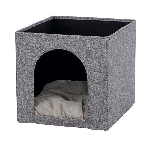 Trixie 44087 Kuschelhöhle Ella für Regal, 33 × 33 × 37 cm, grau