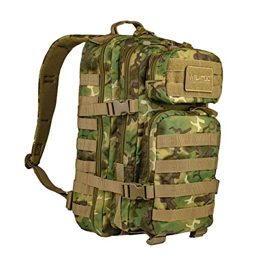 Mil-Tec US Assault Pack Backpack,L,Woodland Arid
