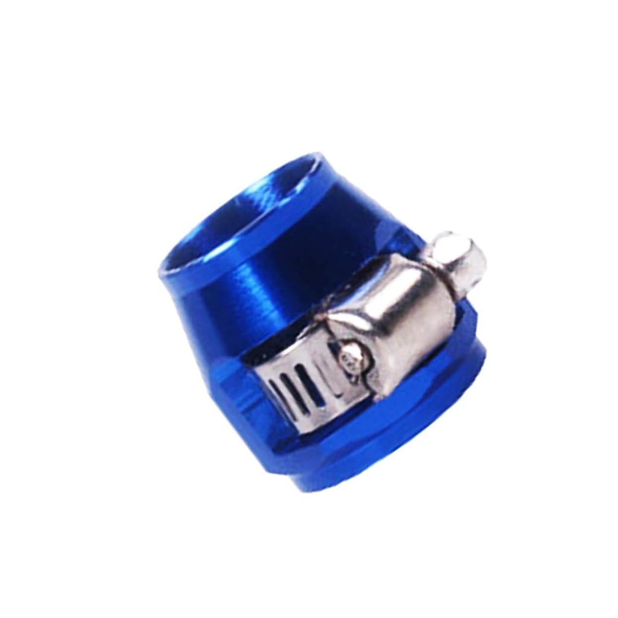 抜本的な魔法深めるホースクランプ エアチューブクリップ 燃料ホースパイプ用 作業工具 アルミニウム 全3色 - 青