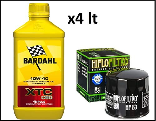 Kit de revisión Ducati 4 l aceite Bardahl xtc c60 10w40 filtro aceite Hiflo hf153