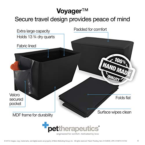 Enchanted Home Pet Orthopedic Sturdy Backseat Extender with Storage Black, Large (51 - 100 lbs)