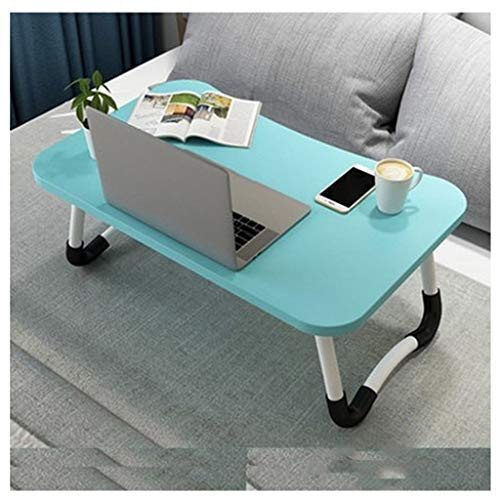 Side Table Portable Foldable Desk,Adjustable Laptop Bed Table For Bed And Sofa Breakfast Bed Tray Laptop Lap Desk Notebook Stand Reading Holder For Couch Floor Interior furniture ( Color : Blue )