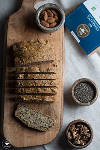 Paleo Brotbackmischung mit Chia (250g) von eat Performance (Bio, Superfood, Brot ohne Zucker und Getreide, glutenfrei, laktosefrei, low carb, eiweißbrot) - 3