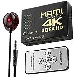 HDMI Switch 4K,WATSABRO HDMI Splitter Bi-Direction 5 In 1 Out Splitter Unterstützt 3D/4K/HDR/UHD/HD/1080P,HDMI 60hz Konverter Mit Fernbedienung Geeignet für...