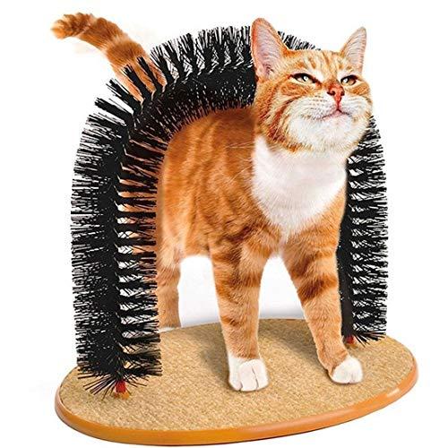 ihen-Tech Arch Cat Self Groomer mit runder Fleece Basis Hund Spielzeugbürste Kratzer für Haustiere Kratzgeräte