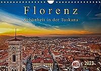Florenz - Schoenheit in der Toskana (Wandkalender 2022 DIN A4 quer): Florenz - wunderschoen und das kulturelle Highlight in der Toskana (Monatskalender, 14 Seiten )