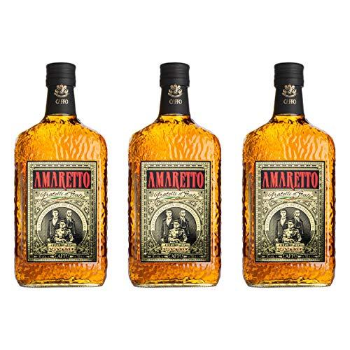 Caffo Amaretto Di Limbadi set om 3, mandelamaretto, sprit, alkohol, flaska, 30 %, 3 x 700 ml