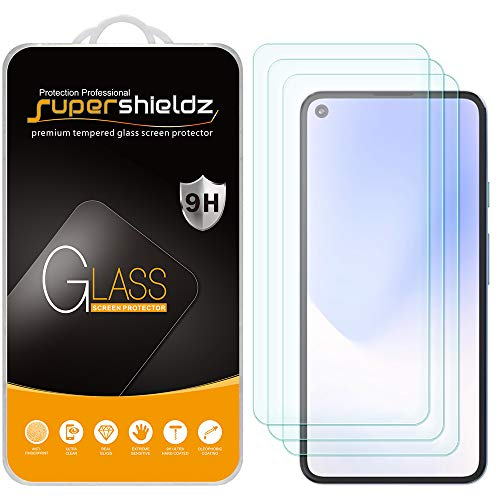 (3 Pack) Supershieldz for Google Pixel 5 Tempered Glass Screen Protector, Anti Scratch, Bubble Free