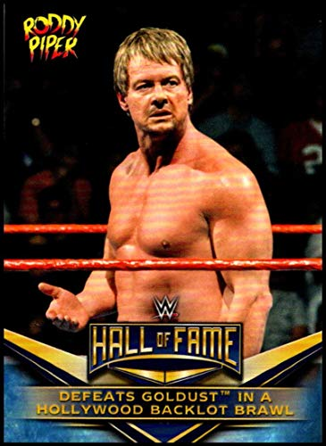 2018 Topps WWE Then Now Forever WWE Hall of Fame Rowdy Roddy Piper Tribute Wrestling #37 Defeats Goldust in a Hollywood Official World Wrestling Ente
