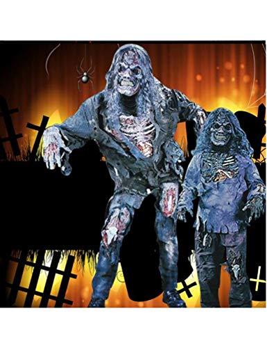 GBYAY Disfraz de Halloween Adulto Demonio Fantasma Zombi Ropa Conjunto Disfraces Horror Cadáver Ropa de Rendimiento