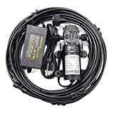 Bulpure Misting Cooling System, 40FT Water Patio Mister + 60W 5L / min Self Priming Sprayer 12V DC Water Pump + Power Supply, Outdoor Water Patio Misters for Outside Patio, Cooling, RV Camper Marine