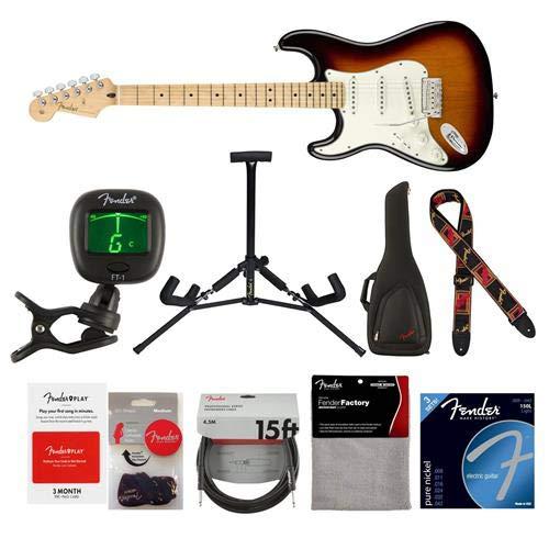 Cheap Fender Player Stratocaster Left-Handed Electric Guitar 22 Frets Modern
