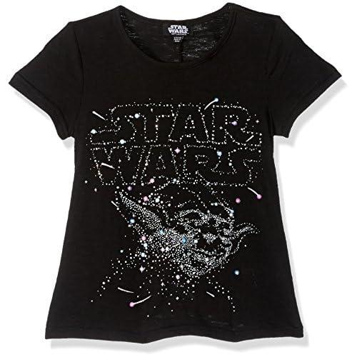 Star Wars Yoda Shirt Ragazza la Costellazione di Glitter Pop Costume T-Shirt 7/8