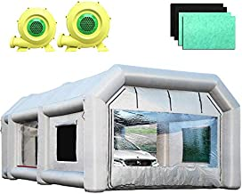 Sewinfla Inflatable Paint Booth 28x15x11Ft with Blowers Professional Inflatable Spray Booth Portable Car Painting Booth Tent for Car Garage Upgrade More Durable with Air Filter System