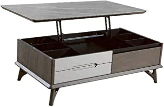 Convertible Coffee Table to Dining Table, Multifunction Lift Top Desk Tea Table, Hidden Storage Cabinet in Living Room
