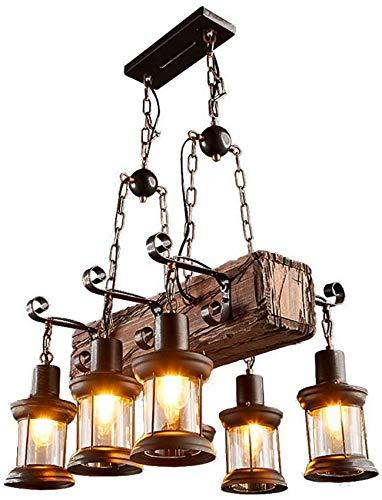 Lámpara de techo de metal retro vintage para comedor, bar, cafetería, lámpara colgante antigua negra, 6 luces, vela, lámpara colgante, luces de isla, lámpara industrial rústica E27, color ne