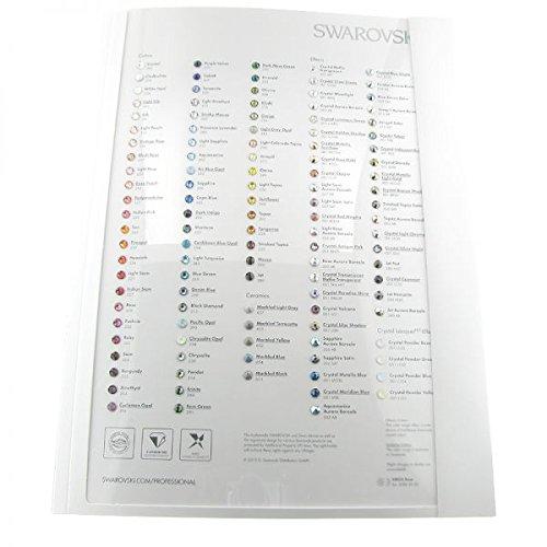 Swarovski Kristall Xirius Farbkarte HF/keine HF 6Stück, echte