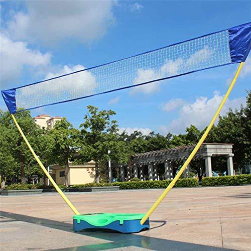 10-voet verstelbare sport tennis volleybal rack beugel, multifunctionele draagbare badminton net set, met opbergdoos, eenvoudig op te zetten en mee te nemen, stabiele ondersteuning