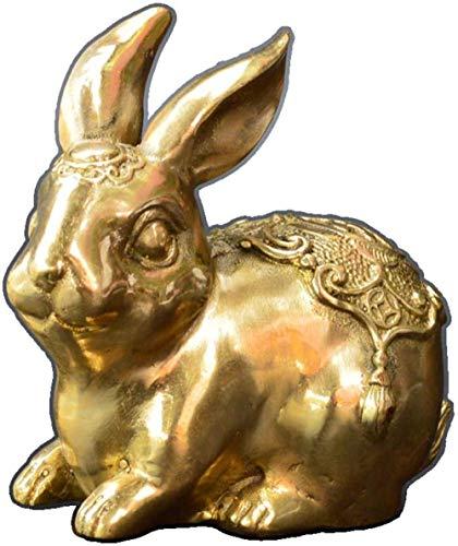 YsKYCA Estatua Escultura Decoración,Regalos De Artesanías Simples Abstracto Oficina Sala De Estar Bar Cafe Accesorios De Adorno De Estatuilla Apertura De Muebles De Oficina De Latón Zodiac Rabbit
