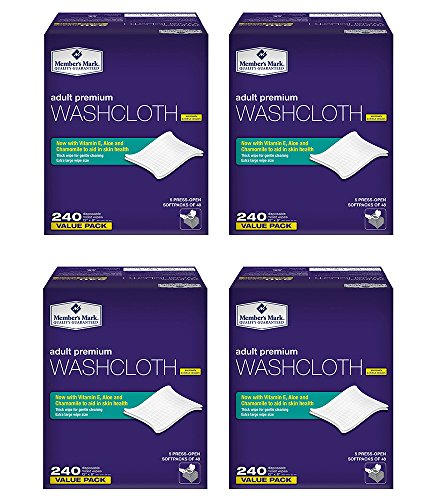 Members Mark Adult CBgJY Washcloth Disposable Moist Wipes 12