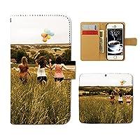 AQUOS sense4 lite SH-RM15 ケース 手帳型 ポスター 手帳ケース スマホケース カバー PHOTO ポスター 女性 草原 E0177040115501