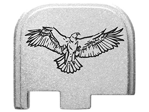 for Glock Back Plate 43 G43 9mm ONLY Silver NDZ - Eagle Wings Spread