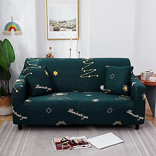 WXQY Funda de sofá Estampada para sillón de Sala de Estar, Funda de sofá Antideslizante con Todo Incluido de Spandex elástico, Estilo nórdico A6 de 4 plazas