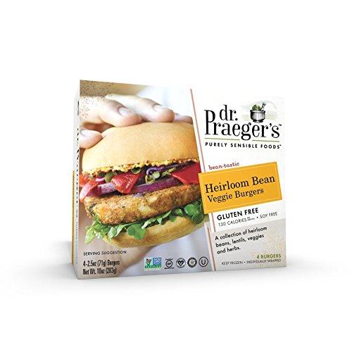 Dr. Praeger's, Heirloom Beans Veggie Burgers, 10 oz (Frozen)