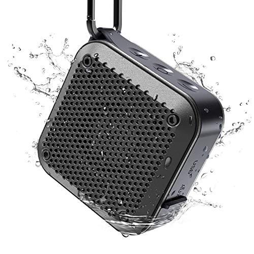 Altavoz Bluetooth Portatil MIROCOO 5.0 Altavoces Bluetooth con en Micrófono Altavoz Bluetooth Ducha IPX7 Impermeable, 12 Horas de Reproducción, Sonido Estéreo TWS,Apoyo AUX/USB/TF
