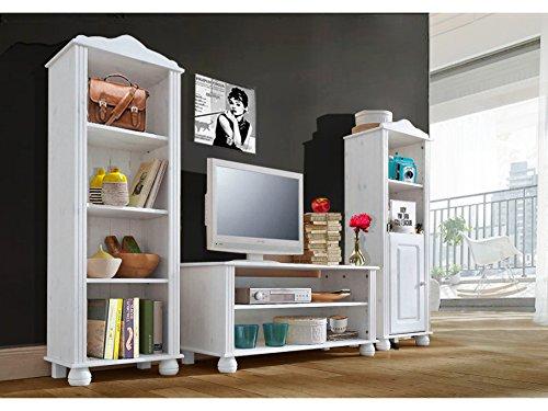 Color Blanco Mueble bajo 45 x 40 x 95/cm, Madera de Pino LifeStyleDesign 3002516 Ella