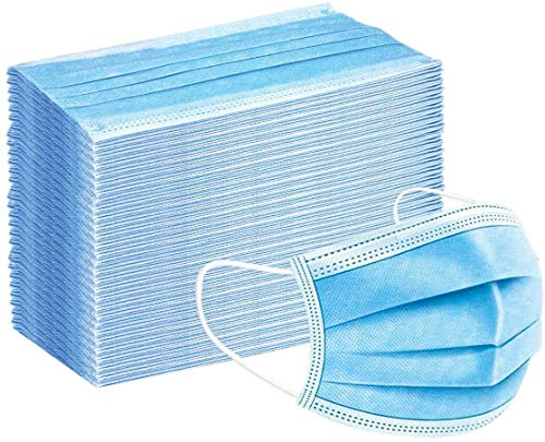 Disposable Face Mask Face Cover Blue 3-Layer 50Pcs/Box Disposable Masks for Daily Protection Adults Outdoor Delivery For US FBA