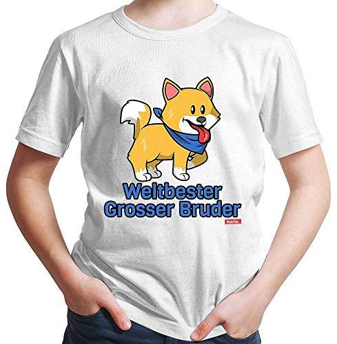 Hariz – Camiseta para niño con el mejor hermano más grande del mundo, incluye tarjeta de regalo Blanco 98 cm