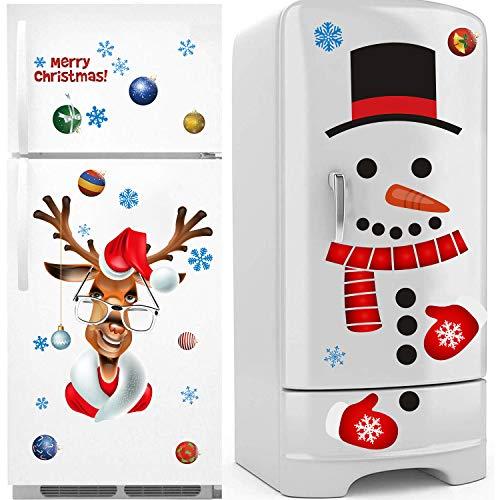 Sayala 3 Pegatina de Navidad,Navidad la Decoración del Hogar de Vinilo Ventana Pegatinas de Pared Perfecto para Decorar Las Ventanas de Tienda Cafetería Casa