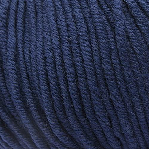 ggh Samson - Merino Wolle (mulesing Free) Lauflänge ca. 85m auf 50g - Wolle zum Stricken oder Häkeln - Farbe 043 - Entenblau
