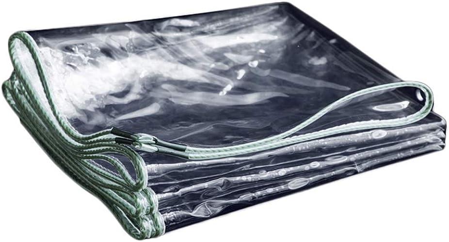 Yunyisujiao Bache extérieure imperméable Transparente d'épaisseur de bache, Couvre-Sol en Plastique Pliable Couvre Tente (Couleur   3×3M)